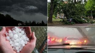 Pożar, zalania, ewakuacje. Bilans interwencji po niedzielnych burzach