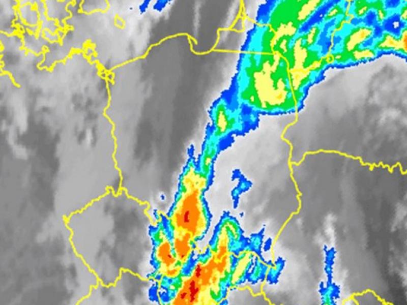 Opady deszczu w Polsce. Stan na 9.30