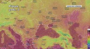 Prognozowana temperatura w najbliższych dniach w Europie